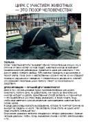 Цирк с животными. Формат А5, doc. 2Mb