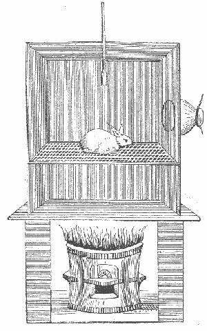 На рисунке изображена               печь, изобретенная и употребляемая Клодом Бернаром