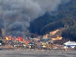 Люди и дельфины во время цунами 12 марта в Японии