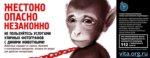 Впервые                      в России! Социальная реклама против фотобизнеса с животными.                      Сентябрь 2014 в метро и на улицах Санкт-Петербурга