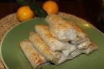 Рисовые блинчики с пастой из семян подсолнечника