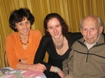 Великий математик И.М.Гельфанд в кругу семьи: жена Татьяна и дочь Татьяна