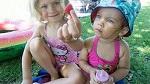 >Что едят за день мои дочки, веганы с рождения»